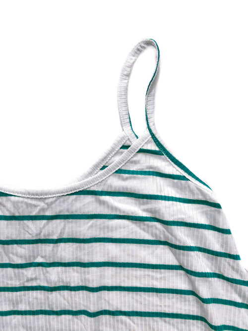 Madison Top - Green/White