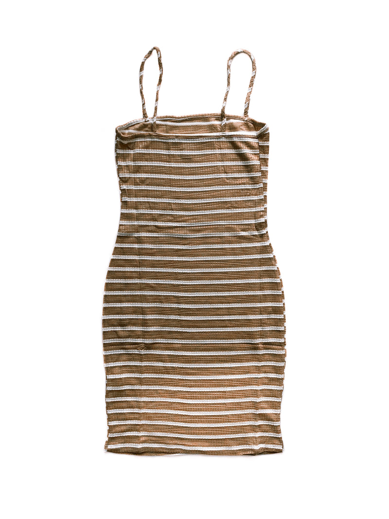 Diana Dress - Beige / White