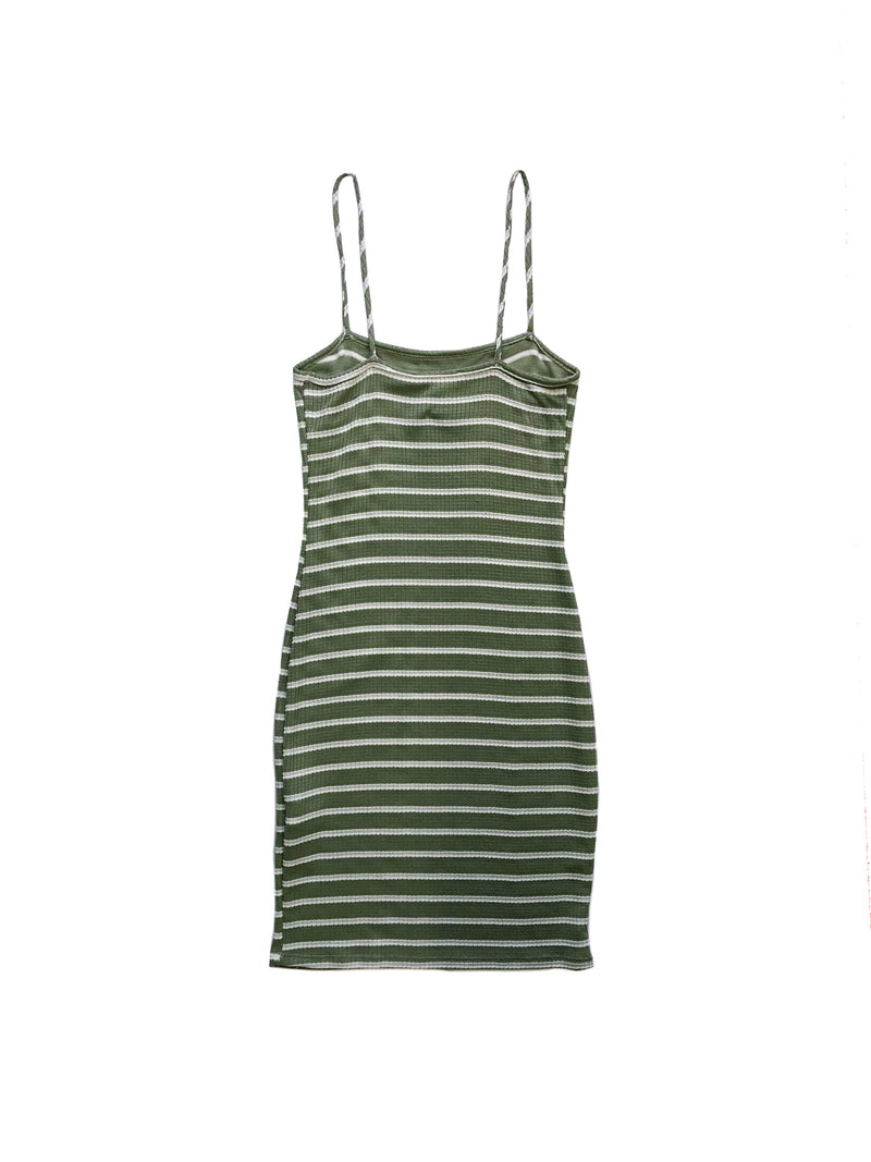Diana Dress - Green / White
