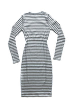 Anna Dress - Gray/White