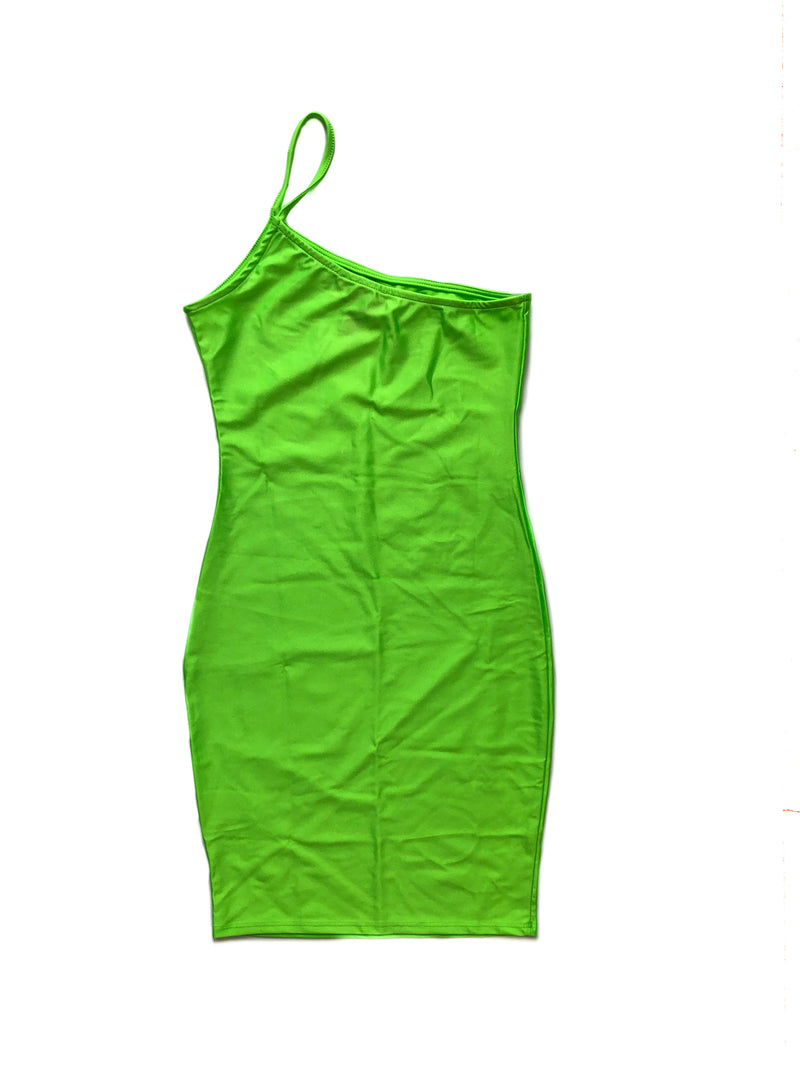 Aria Dress - Neon Green
