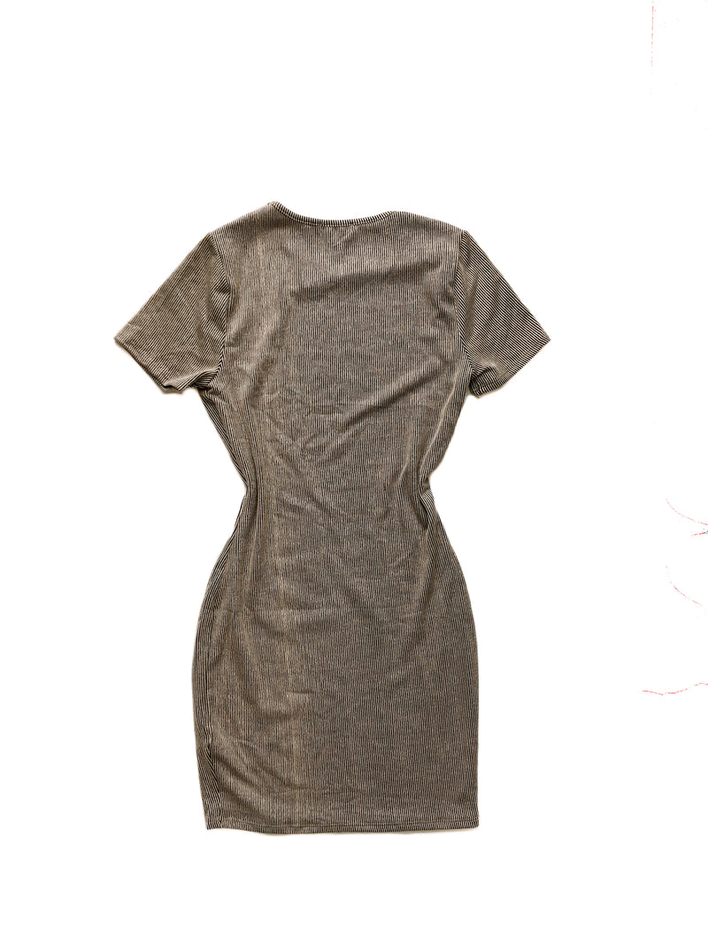 Aurora Dress - Brown/Black