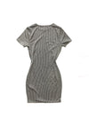 Aurora Dress - Gray/Black