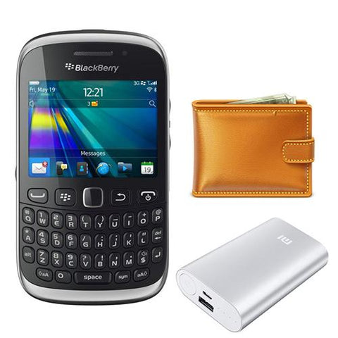 Blackberry Curve 9320+Power Bank 20400 mAh+Wallet