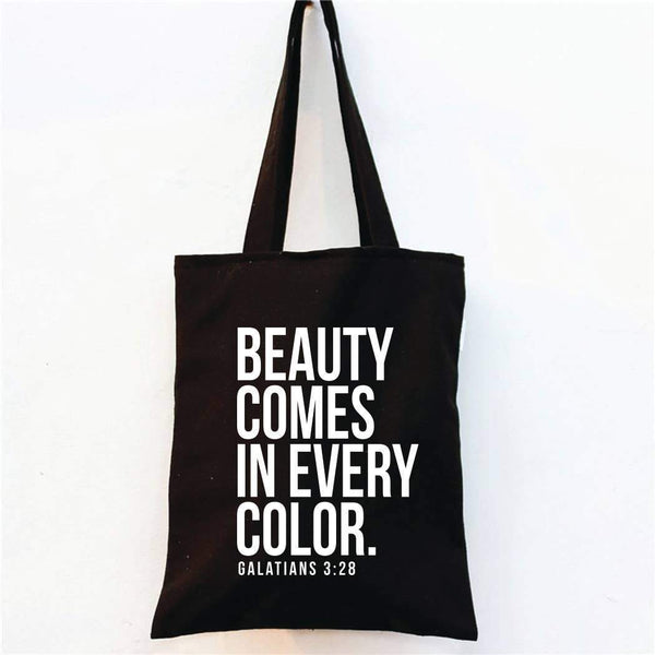 Beauty Comes In Every Color - Market Tote Bag - Fason De Viv