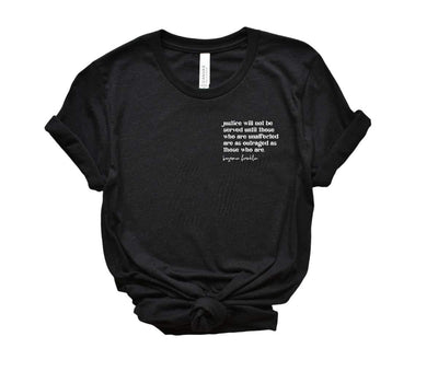 Justice Will Not Be Served Pocket Style Tee - Fason De Viv
