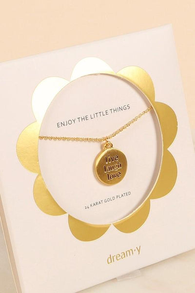 Live Laugh Love Charm Necklace - Fason De Viv