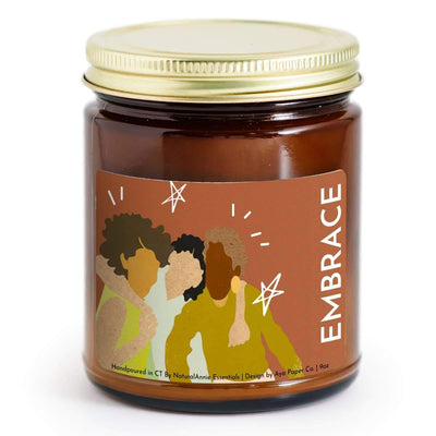 Warm Amber & Ginger EMBRACE Soy candle - 9oz - Fason De Viv