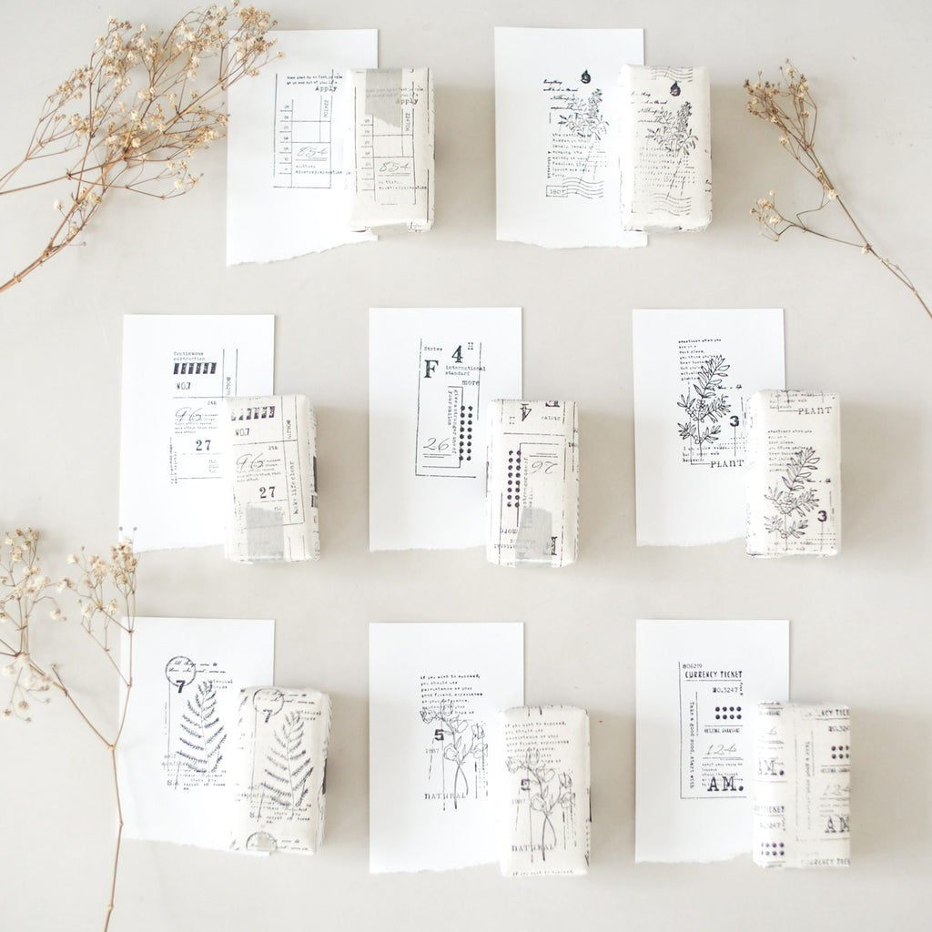 Rustic Botanical Rubber Stamp Collection