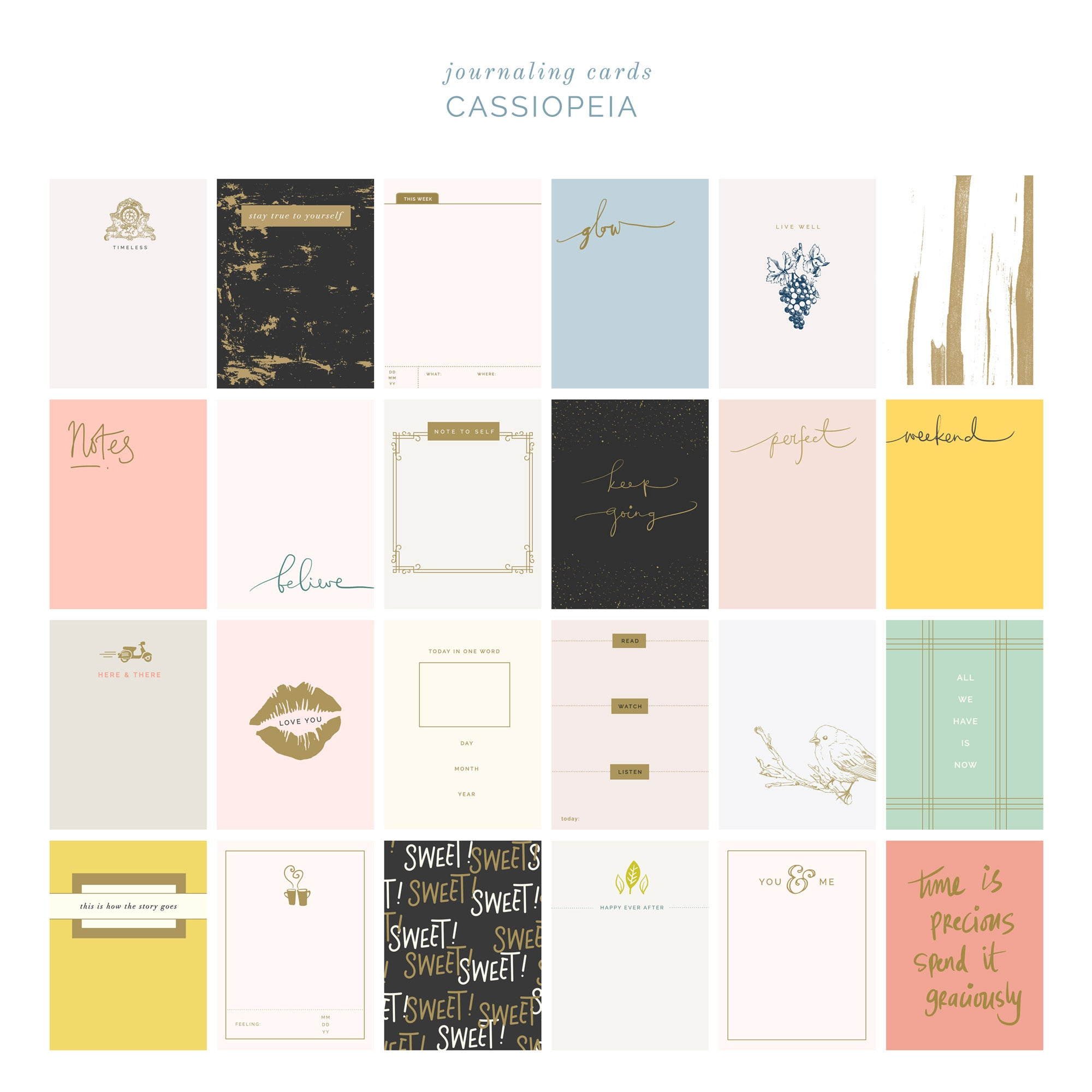 Cassiopeia Journal Cards