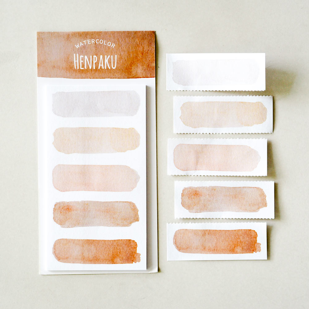 Watercolor Sticky Notes : Henpaku