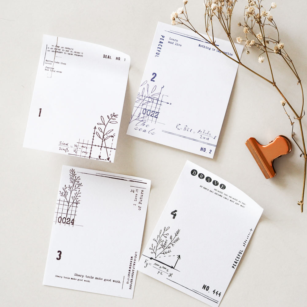 Sticky Memo Mini Notepad No. 4