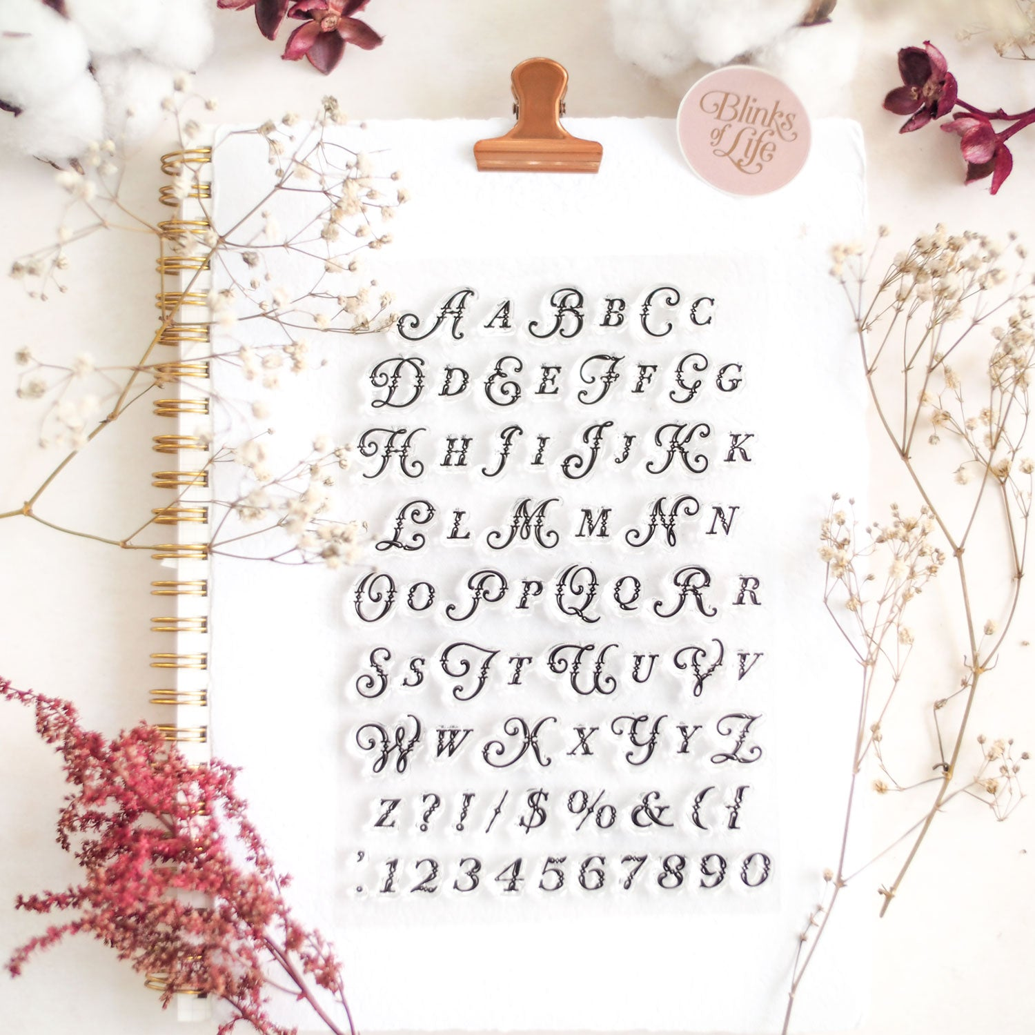 Parisian Alphabet Clear Stamp