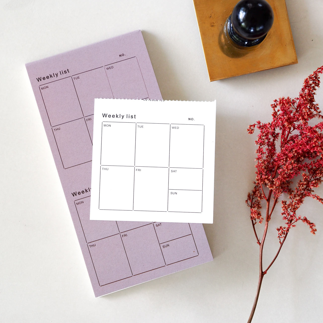 Weekly List Perforated Mini Notepad