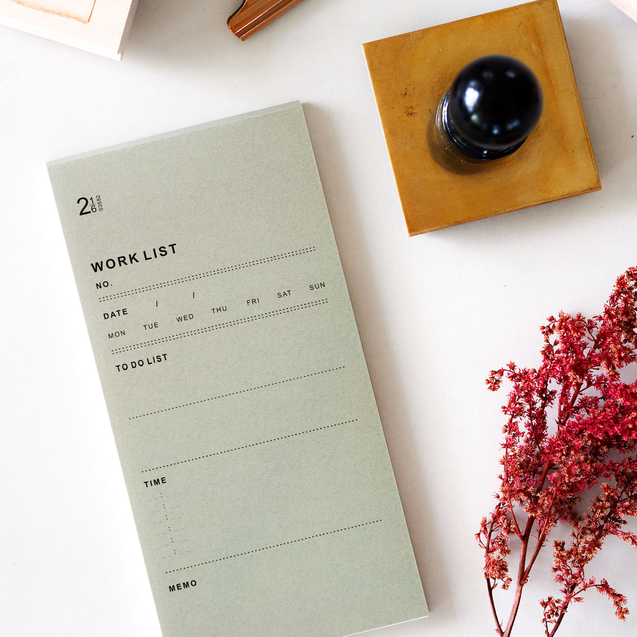 Work List Perforated Mini Notepad