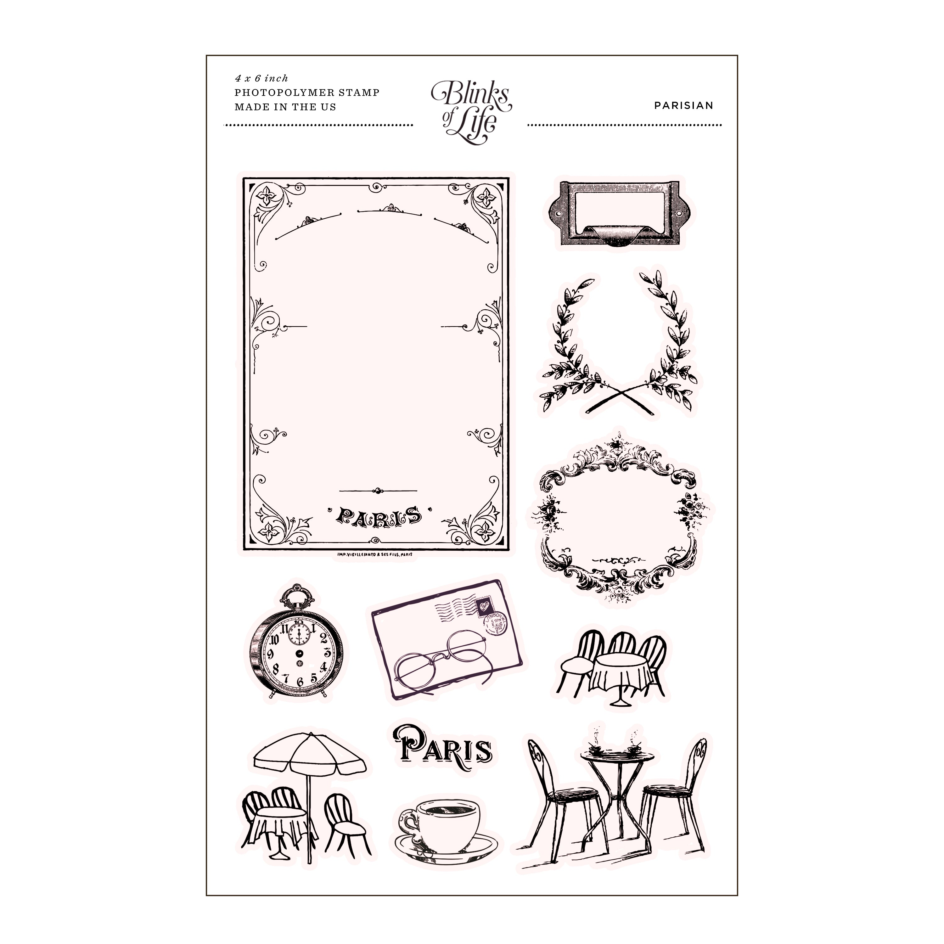 Paris Cafe Clear Stamp