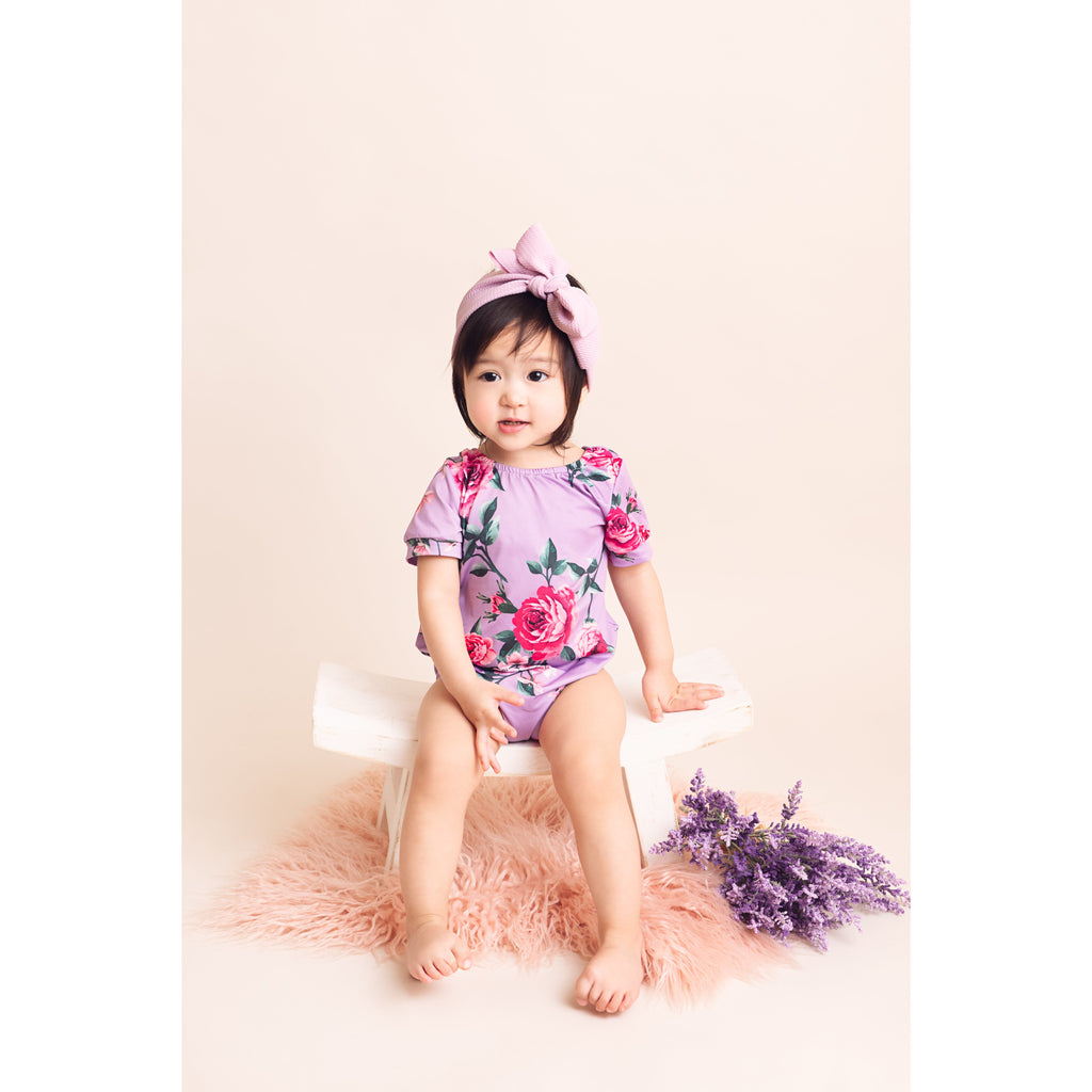 Pretty Peony Baby Girl Romper - Little Adora and Company