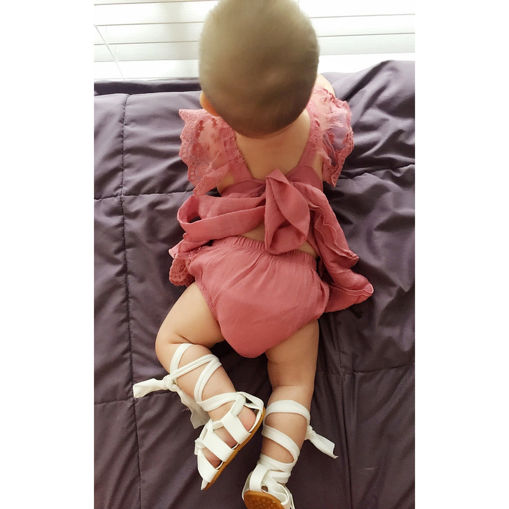 PRE ORDER Wrap Around Baby Girl Sandals - Little Adora and Company