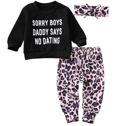 Sorry Boys Girls Pants Set - Little Adora and Company