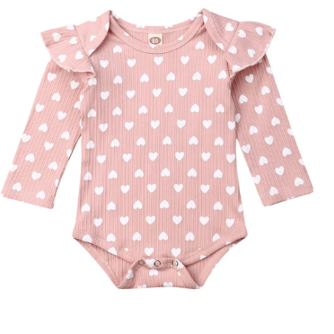PRE ORDER Sweetie Ribbed Baby Romper - Little Adora and Company