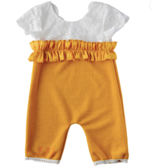 Golden Girl  Baby Girl Jumpsuit - Little Adora and Company
