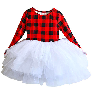 Georgia Buffalo Plaid Girls Tutu Dress - Little Adora and Company