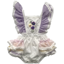Willow Flutter Sleeve Baby Girl Romper - Little Adora and Company