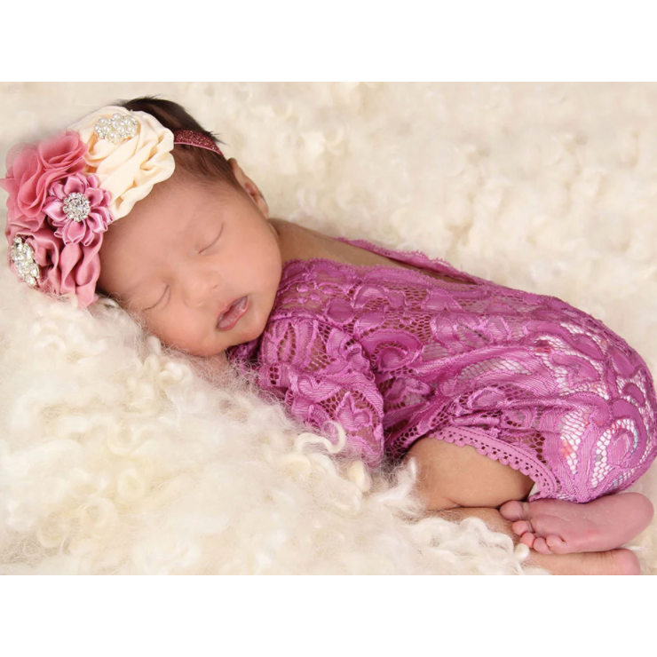Vintage Chic Floral Baby Headband - Little Adora and Company