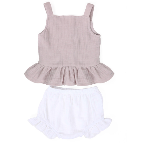Isn't She Lovely Toddler Girl Short Set - Little Adora and Company