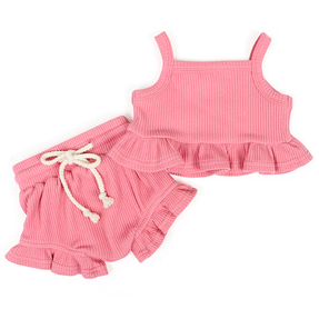 Tickled Pink Girls Short Set - Little Adora and Company