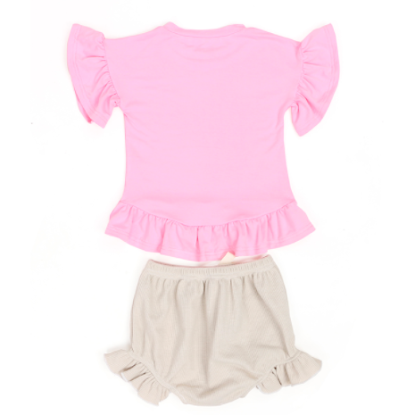 Pink Icing Baby Girl  Short Set - Little Adora and Company