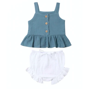 (PRE ORDER) Bella Baby Girl Short Set - Little Adora and Company