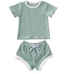 (PRE ORDER) Adorably Casual Baby Girl  Short Set - Little Adora and Company