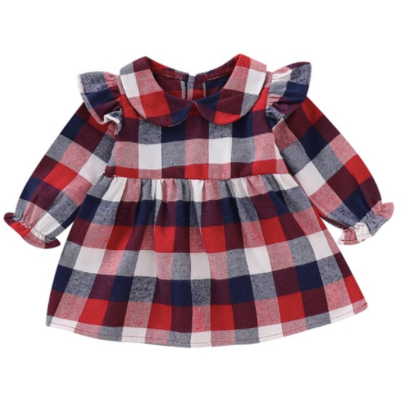 Mia Plaid Baby Girls Dress - Little Adora and Company