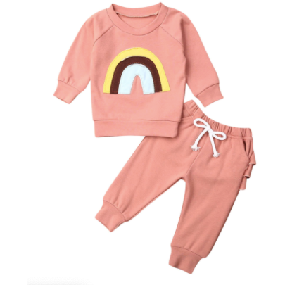 PRE ORDER Over the Rainbow jogging Set - Little Adora and Company