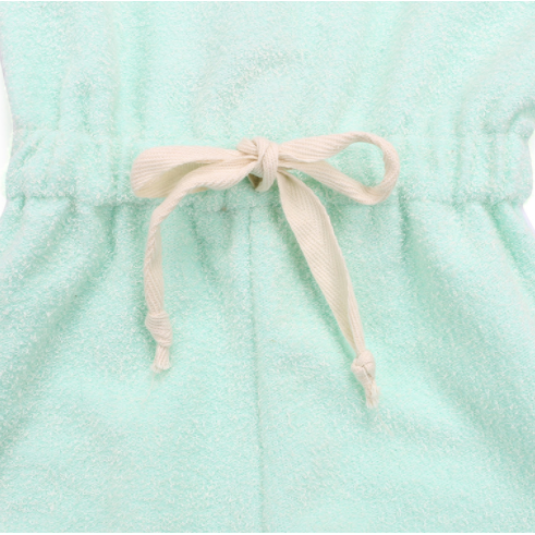 Sea Foam Baby Girl Romper - Little Adora and Company