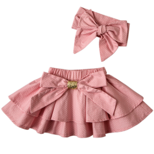 Dotty Baby Girl Skirt Set - Little Adora and Company