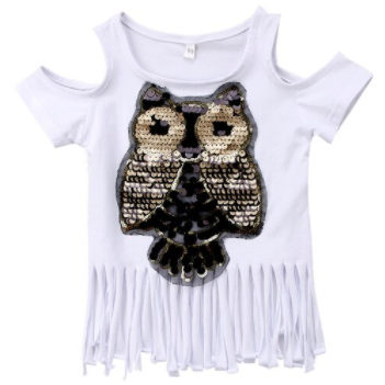 Tasseled Owl Girls Shirt - Little Adora and Company