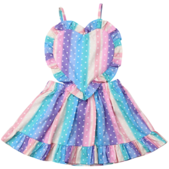Rainbow Bright Baby Girl Dress - Little Adora and Company