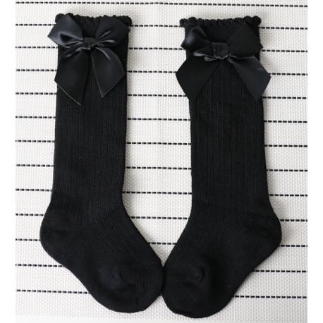 Bow So Cute  Baby Girl Knee High Socks - Little Adora and Company