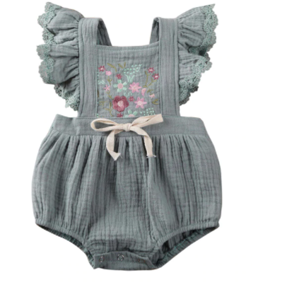 PRE ORDER Amaya Baby Girl Romper - Little Adora and Company