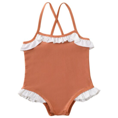 PRE ORDER Summer Frills Baby Girl Swimsuit - Little Adora and Company