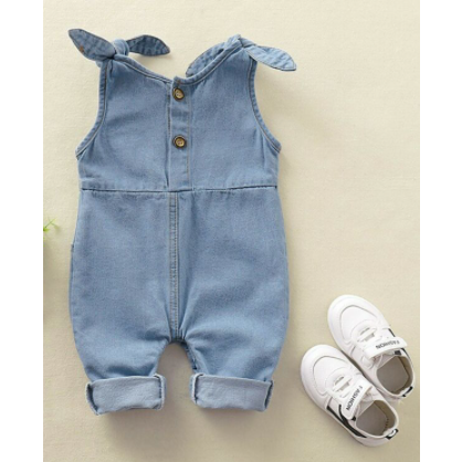 PRE ORDER Denim Charm Baby Girl Jumpsuit - Little Adora and Company
