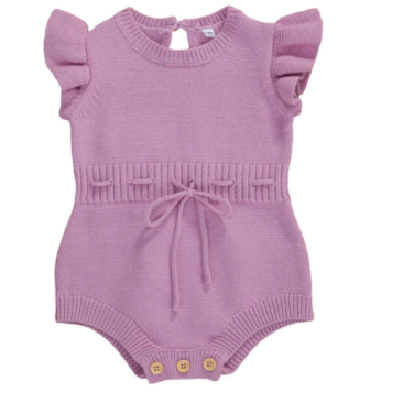 PRE ORDER Charlotte Knitted Romper - Little Adora and Company