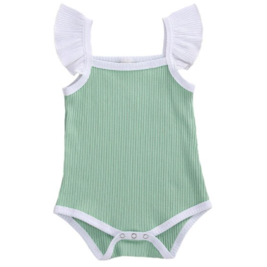 PRE ORDER Seafoam Baby Girl Bodysuit - Little Adora and Company