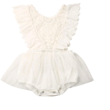 PRE ORDER Amelia Baby Girl Romper (Sleeveless) - Little Adora and Company