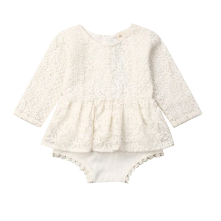 PRE ORDER Amelia Baby Girl Romer ( Long Sleeve) - Little Adora and Company