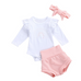 PRE ORDER Ruffled Rainbow Baby Girl outfit - Little Adora and Company