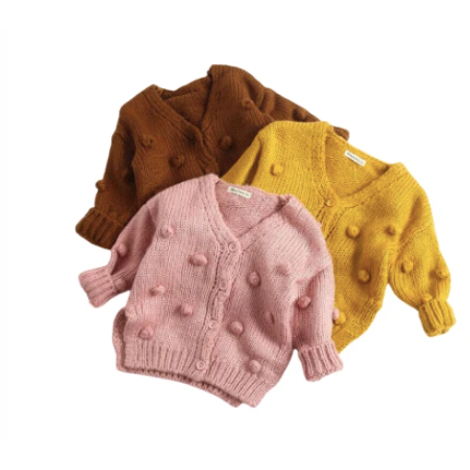 PRE ORDER Cozy Pom Baby Girl Sweater