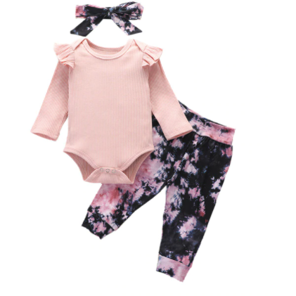PRE ORDER All Tie Dye Baby Girl Outfit